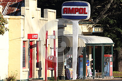 Rural Ampol service station Editorial Stock Image