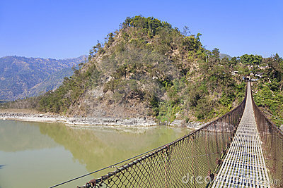 Rural Suspension Bridge, Nepal