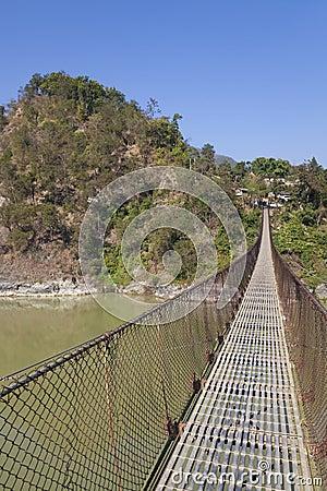 Rural Suspension Bridge, Nepal