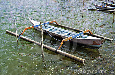 Rural traditional indonesian boat