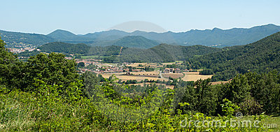 Rural valley in the Spanish Pyrenees