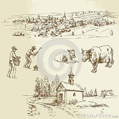 Rural village, agriculture