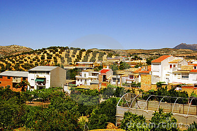 Rural village in Andalusia, Spain