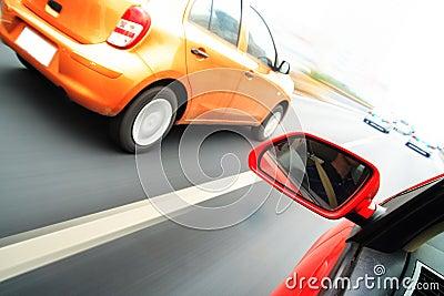 Rush car,motion blur steet