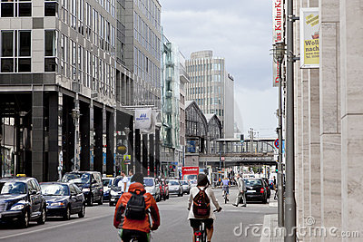 Rush Hour in Berlin Editorial Photo