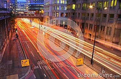 Rush hour in London