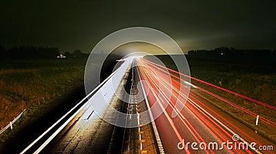 rush hour Night traffic