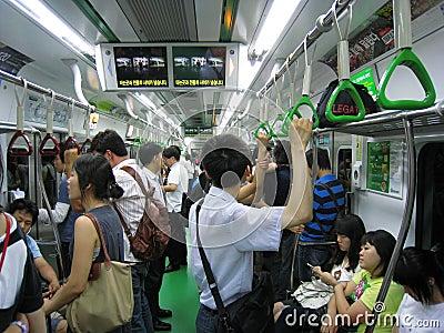 Rush Hour in Seoul Editorial Photo