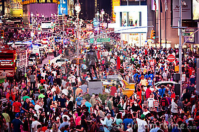 Rush hour at Times Square Editorial Image