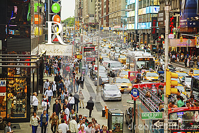 Rush hour at Times square in New York City Editorial Photography