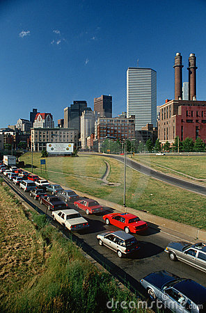 Rush Hour Traffic in Boston, MA Editorial Stock Image