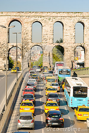 Rush hour traffic Editorial Stock Photo