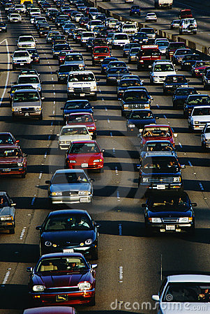 Rush Hour Traffic, Los Angeles, CA Editorial Image