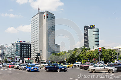 Rush Hour Traffic On Victory Square Editorial Stock Image