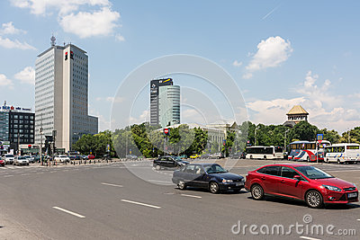 Rush Hour Traffic On Victory Square Editorial Image