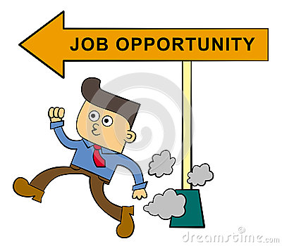 Rush for a job