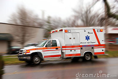 Rushing Ambulance for emergency