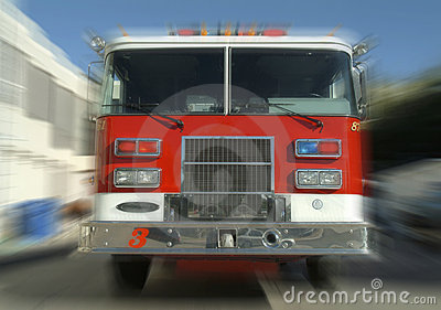 Rushing fire truck
