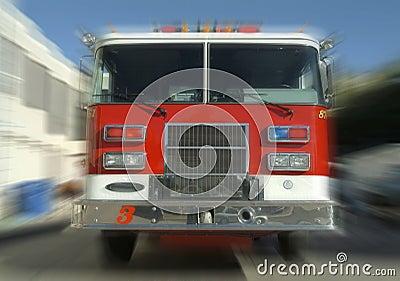 Rushing fire truck