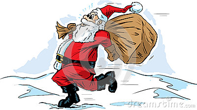 Rushing Santa