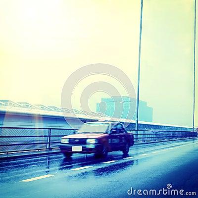 Rushing taxi