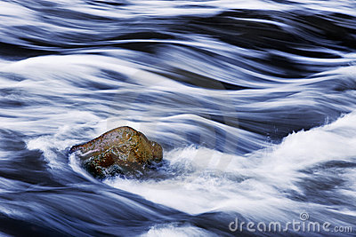 Rushing Water And Rock