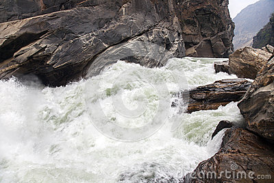 Rushing Water of Yangtze River