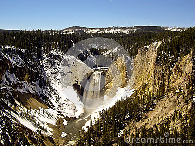 Rushing Yellowstone Falls