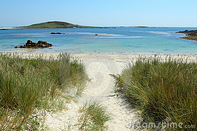 Rushy Bay beach in Bryher, Isles of Scilly.