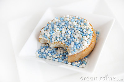 Rusk with blue mice