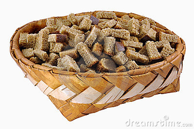 Rusks in big birch-bark box