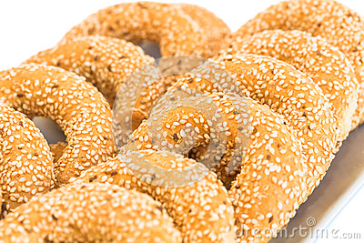 Rusks with sesame seeds
