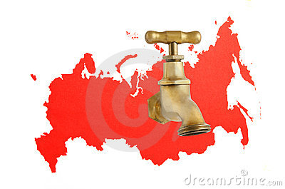 Russia as gas and oil source concept