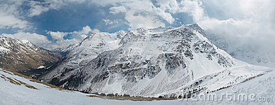 Russia. Caucasus. Mountain scenery. Panorama