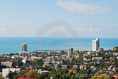 Russia. Caucasus. Sochi. View on the city from top