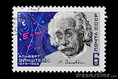 Russia - CIRCA 1979: A stamp Albert Einstein Editorial Image