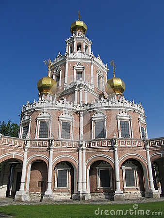 Russia, Moscow. Church Holy Virgin Protection