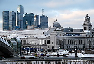 Russia. Moscow of City. The Kiev station.