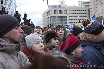 Russia, Moscow - DECEMBER 24 Editorial Photography