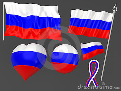 Russia, Moscow flag national symbolic