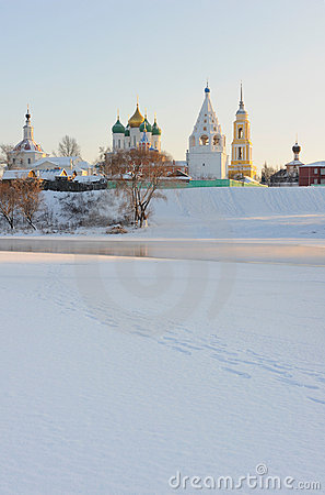 Russia. Moscow region. Ensemble of Kolomna Kremlin