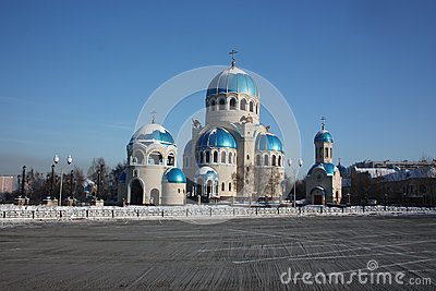 Russia, Moscow. Temple of the Holy Trinity
