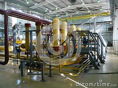 RUSSIA, NADYM - JUNE 8, 2011: Equipment of corporation GAZPROM i Editorial Photo
