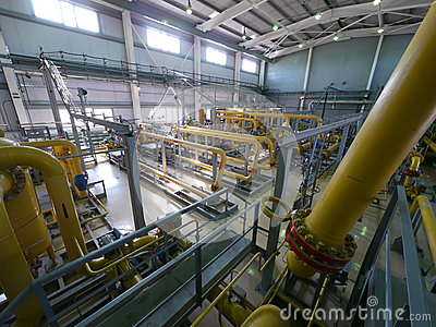RUSSIA, NADYM - JUNE 8, 2011: Equipment of corporation GAZPROM i Editorial Stock Image