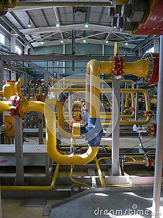 RUSSIA, NADYM - JUNE 8, 2011: Equipment of corporation GAZPROM i Editorial Stock Photo