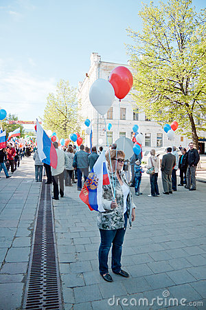 RUSSIA, PENZA - MAY 1: May Day demonstration Editorial Photo