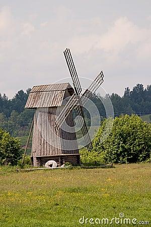 Free Russia. Pskov Region. Windmill Stock Photography - 9767382