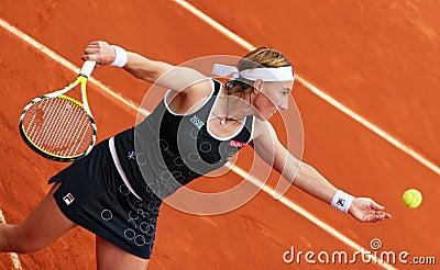 Russia s Svetlana Kuznetsova at Roland Garros Editorial Image