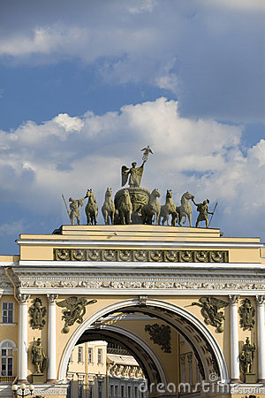 Russia, Saint petersburg, palace square