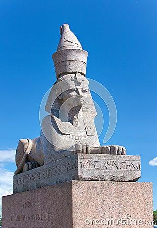 Russia. Saint petersburg. Sphynxes
